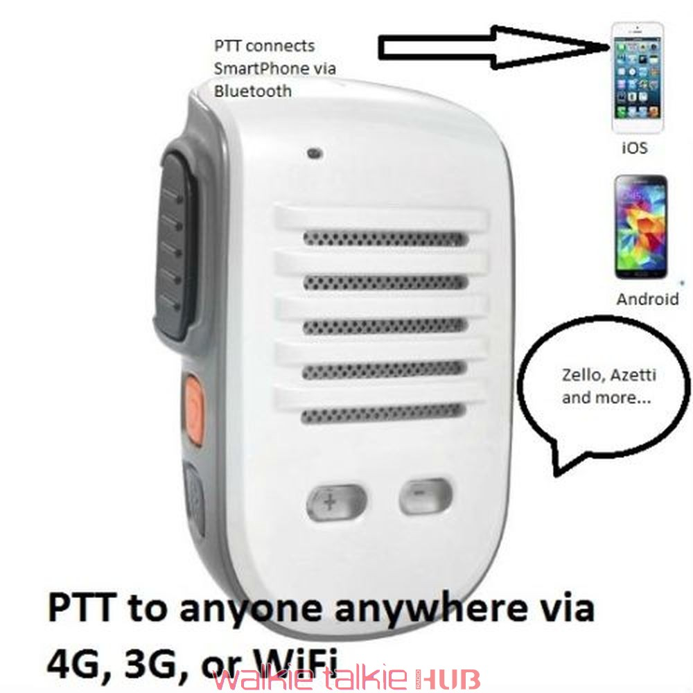 External Mic For Iphone >> Bluetooth iOS Android Walkie Talkie PTT Speaker Mic for Zello Azetti Voxer TiKL ESchat GroupTalk ...
